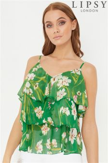 Lipsy Floral Tiered Cami Top