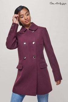 Miss Selfridge Petite Double Breasted Coat