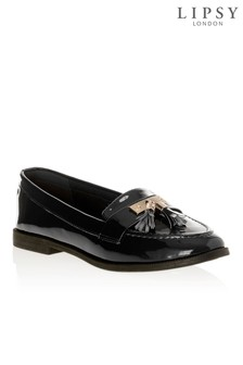 Lipsy Patent Gold Trim Loafers