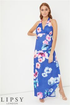 Lipsy Floral Halter Maxi Dress