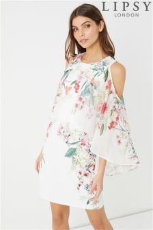 Lipsy Amy Print Cape Sleeve Bodycon Dress