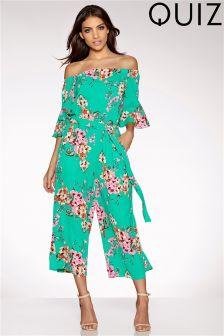 Quiz Blossom Print Bardot Jumpsuit