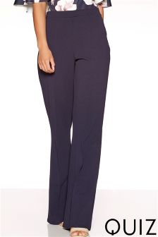 Quiz High Waist Wide Leg Trousers