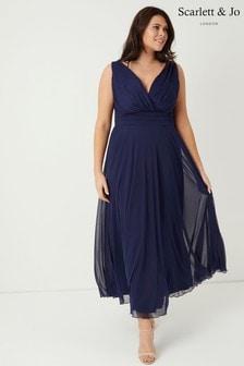 שמלת מקסי שיפון של <bdo11>Scarlett & Jo</bdo>