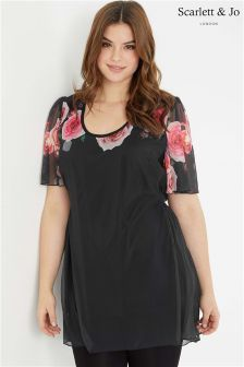 Scarlett & Jo Rose Print Top