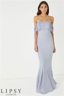 Lipsy Sequin Top Maxi Dress