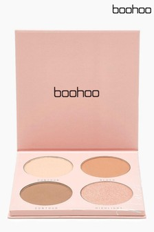 Boohoo Beauty Powder Blush Palette 4 Shades
