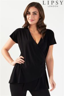 Lipsy Wrap Short Sleeve Top