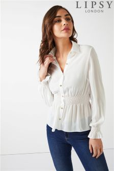 Lipsy Shirred Waist Shirt