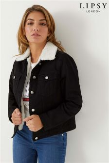 Lipsy Borg Denim Jacket