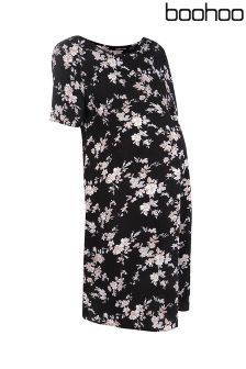 Boohoo Maternity Lauren Floral Shift Dress