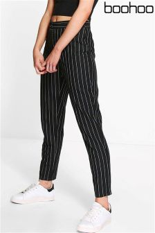 Boohoo Petite Kate Stripe Tapered Trousers
