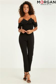 Morgan Open Shoulder Ruffle Jumpsuit