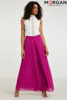 Morgan Wide Leg Pleated Trousers