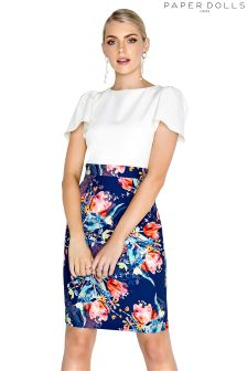 Paper Dolls Floral Tulip 2 In 1 Dress