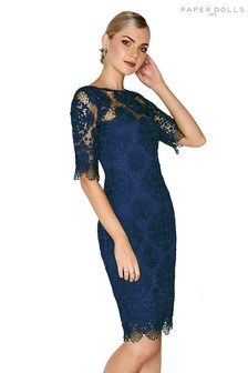 df679b45ec Paper Dolls Crochet Detail Lace Dress
