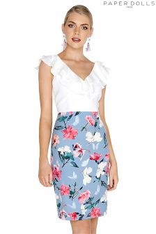 Paper Dolls Ruffle Printed Skirt Dress