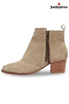 Joe Browns Suede Mid Heel Ankle Boots