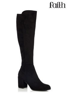 Faith High Leg Stretch Boot