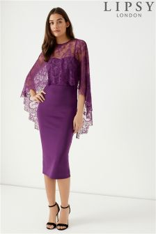 Lipsy Stella Lace Midi Dress