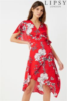 Lipsy Eloise Asymmetric Wrap Dress