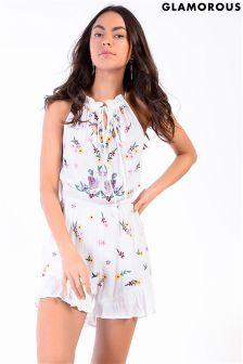 Glamorous Petite Embroidered Playsuit