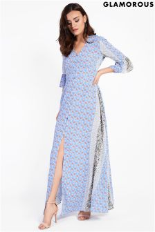 Glamorous Petite Rust Border Maxi Dress