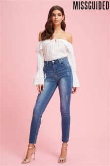 Missguided Clean Sinner High Waist Authentic Skinny Jeans