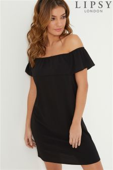 Lipsy Ruffle Bardot Shift Dress