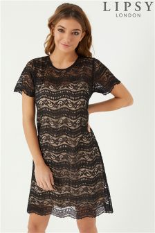 Lipsy All Over Lace Shift Dress