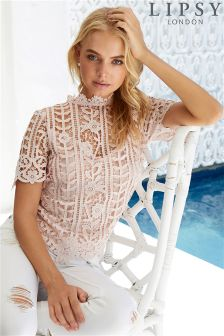 Lipsy All Over Lace Sweetheart top