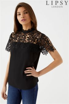 Lipsy Leaf Lace Top