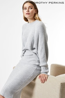 Dorothy Perkins Ribbed High Neck Jumper