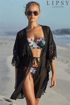 Lipsy Lace Trim Kimono