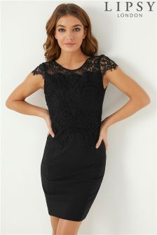 Lipsy Lace Faux Pearl Bodycon Dress