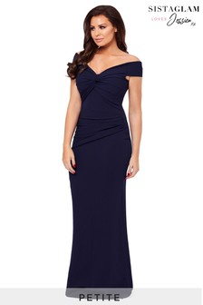 Sistaglam Loves Jessica Petite Marina Bardot Maxi Dress
