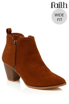 Faith Wide Fit Zip Boot