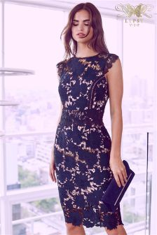 Lipsy VIP Lace Floral Detail Bodycon Dress