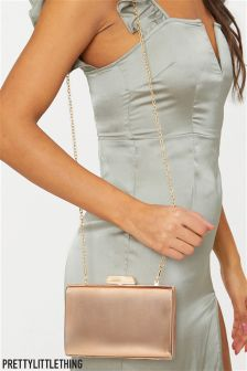 PrettyLittleThing Metallic Clutch