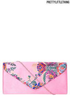 PrettyLittleThing Oriental Print Clutch Bag