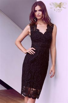Lipsy VIP Sweetheart Lace Bodycon Dress