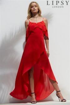 Lipsy Floral Ruffle Maxi Dress