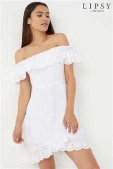 Lipsy Bardot Asymmetrical Hem Dress
