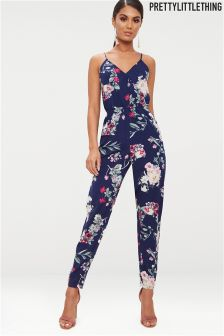 PrettyLittleThing print jumpsuit