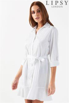 Lipsy Flute Hem Shirt Dress