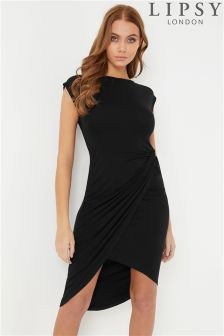 Lipsy Sleeveless Ruched Dress