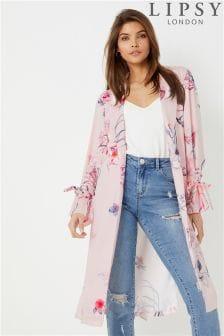 Lipsy Satin Stella Print Duster Jacket