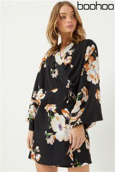 Boohoo Jodie Wrap Belted Kimono