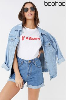 Boohoo Vintage Denim Mom Shorts