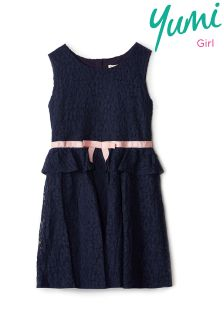 Yumi Girl Lace Peplum Dress